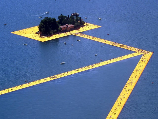 Luftaufnahme Floating Piers