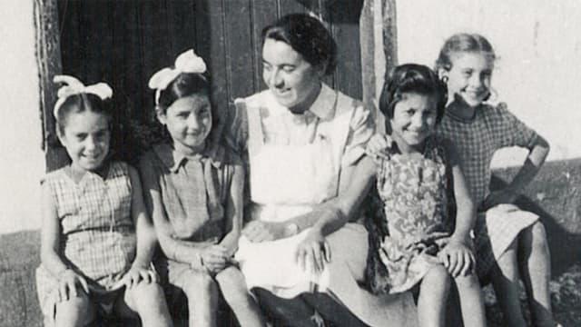 Friedel Bohny-Reiter und 4 Kinder.