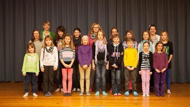 Gruppenfoto Kinderchor Prättigau