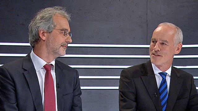 Markus Zimmermann und Bruno Imthurn am Expertentisch.