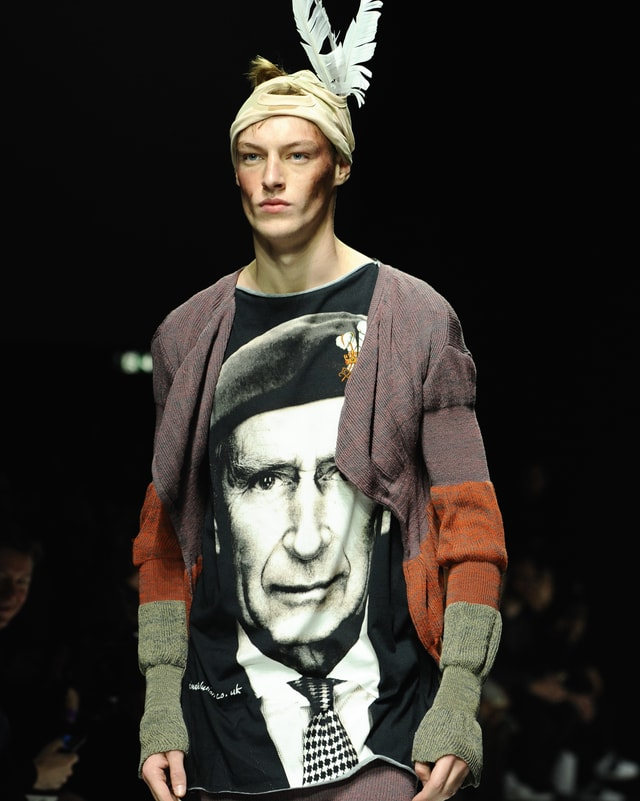 Prinz Charles ziert mit seinem Kopf die T-Shirts von Vivienne Westwood.