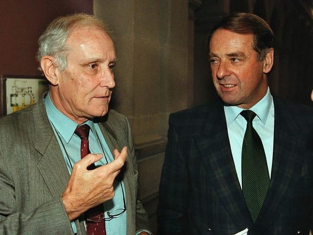 Ogi und Cotti 1997 als Bundesräte in Bern