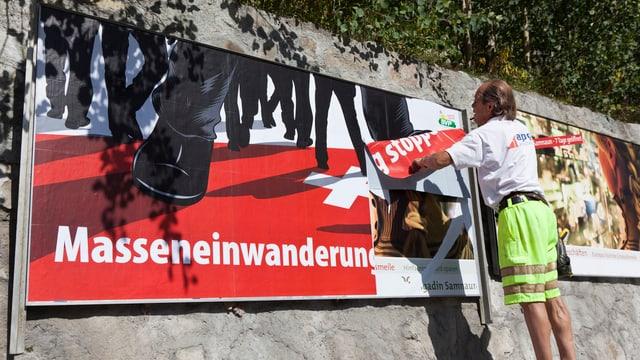 Plakat der SVP zur Masseneinwanderungsinitiative
