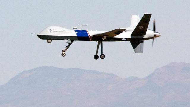 Eine US-Drohne bei der Patrouille.
