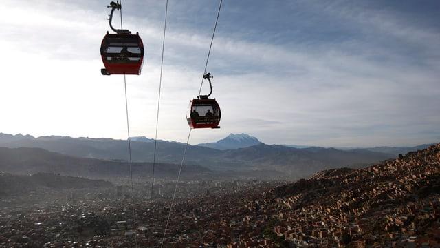 Gondeln über La Paz
