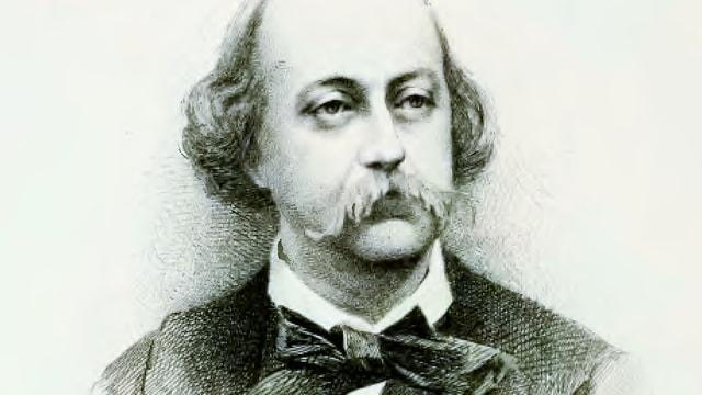Ein Porträt von Gustave Flaubert.