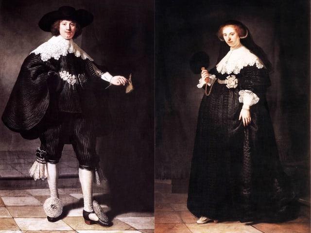 Das Ehepaar Maerten Soolmans und Oopjen Coppit. Zwei Gemälde von Rembrandt.