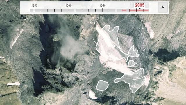 Interaktive Gletscherkarte