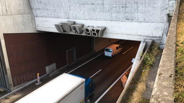 Einfahrt Tunnel Rsenberg