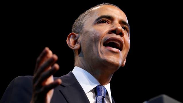 US-Präsident Barack Obama hinter einem Rednerpult.