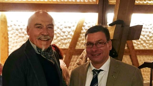 Reto Gurtner (san.) e René Buchli (dre.).
