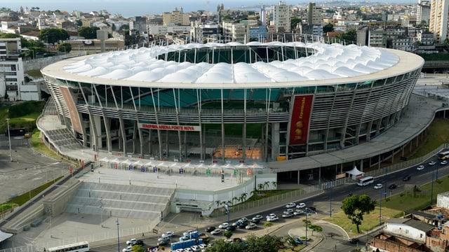 Aussenansicht der Arena Fonte Nova.