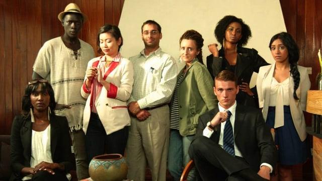 Die Schauspiel-Crew der Satire.
