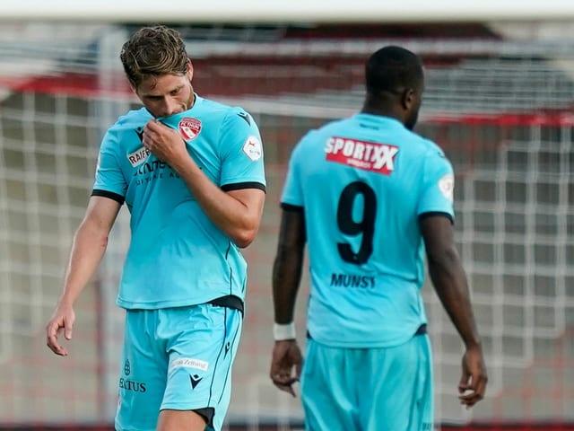 Ernüchterung bei Nicolas Hasler und Ridge Munsy nach dem Hinspiel in Vaduz.