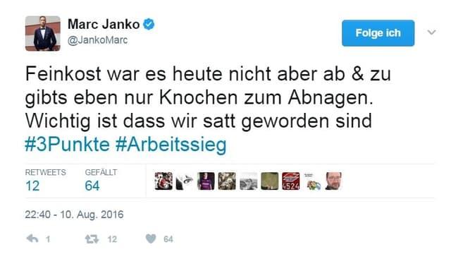 Jankos Tweet
