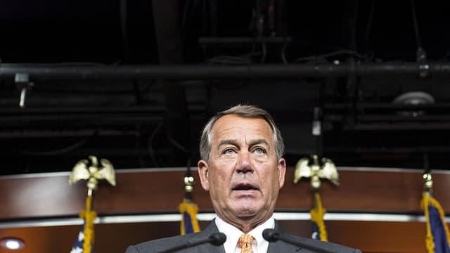 John Boehner spricht während einer Pressekonferenz. (reuters)
