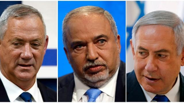Drei sture Männer an den Schalthebeln