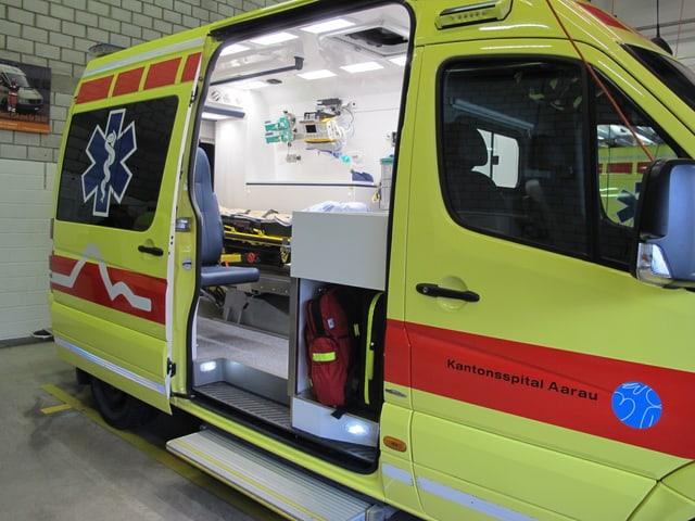 Der aktuelle Rettungswagen des Kantonsspitals Aarau