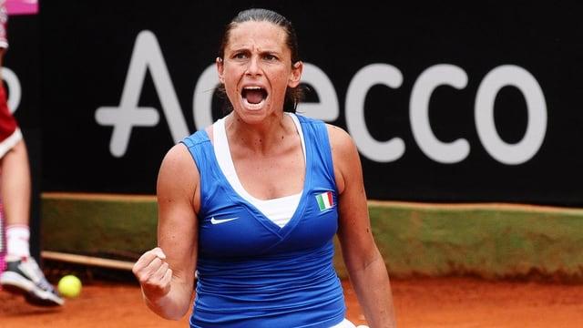 Roberta Vinci freut sich über den Final-Einzug.