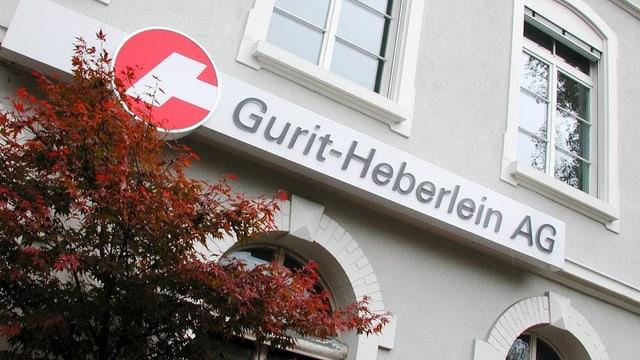 Firmenloge von Gurit-Heberlein AG mit Sitz in Wattwil.