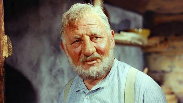 Heinrich Gretler als Alpöhi im Film «Heidi und Peter» von Franz Schnyder aus dem Jahr 1955.