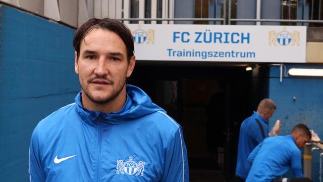 Alain Nef nach dem Abschlusstraining in Zürich vor dem Leverkusen Match