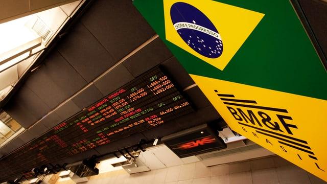 Blick in die Börse von São Paulo