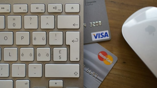 Tastatura cun cartas da credit