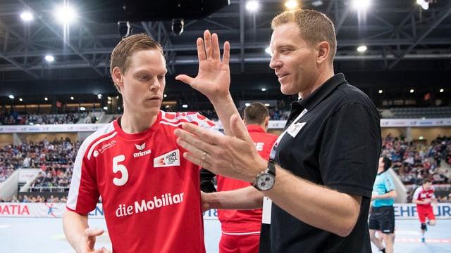Manuel Liniger und Trainer Michael Suter