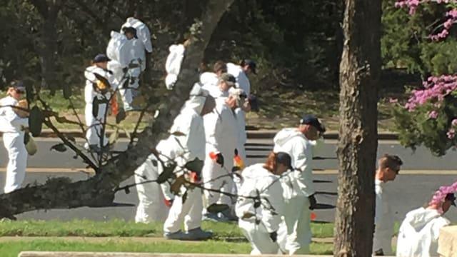 Polizeihelfer in Austin anfang März.