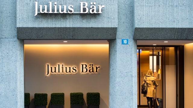 La banca privata Julius Bär.