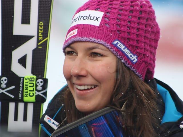 Strahlende Skifahrerin Wendy Holdener