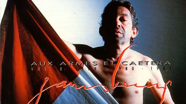 Serge Gainsbourg mit der französischen Flagge.