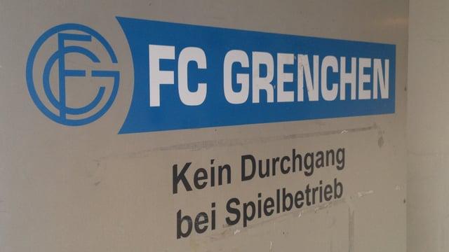 FC Grenchen Eingangstüre