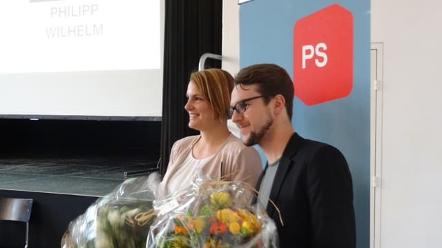 Fluras e gratulaziuns per il niev president e la nova vicepresidenta da la PS dal Grischun