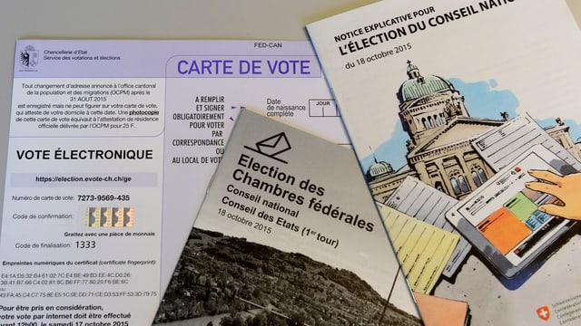 Unterlagen von E-Voting-System in Genf.