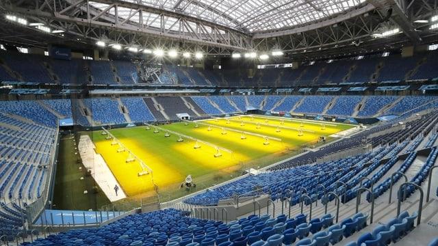 In St. Petersburg dürfen 30'000 Zuschauerinnen und Zuschauer ins Stadion.
