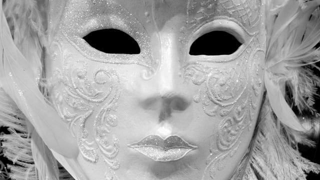 Venezianische Maske.
