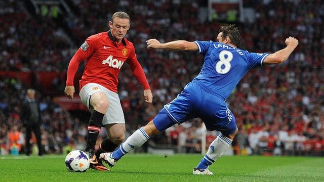 im Duell Wayne Rooney (l.) gegen Frank Lampard - oder ManUnited gegen Chelsea.