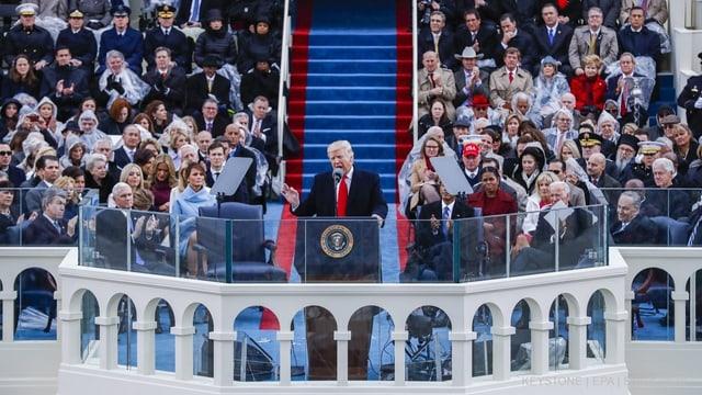 Trump bei seiner Rede zur Amtseinführung.
