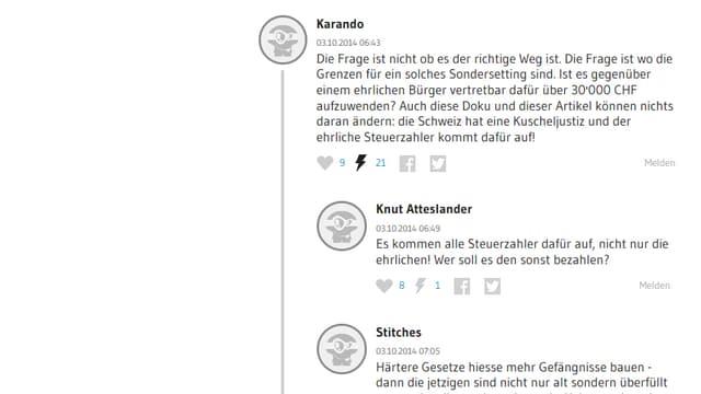 Leserkommentare auf watson.ch