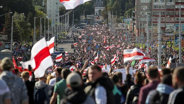 Demo in Minsk.