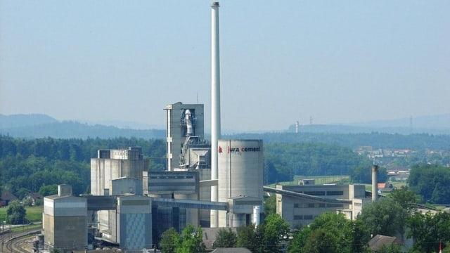 Das Jura Cement Werk in Wildegg.