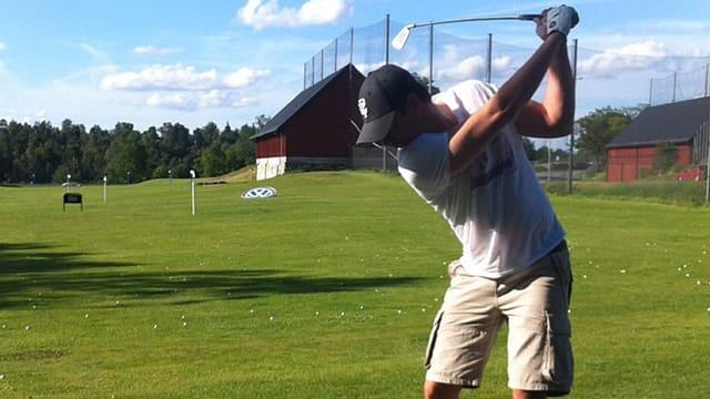 Robin Söderling beim Golf.