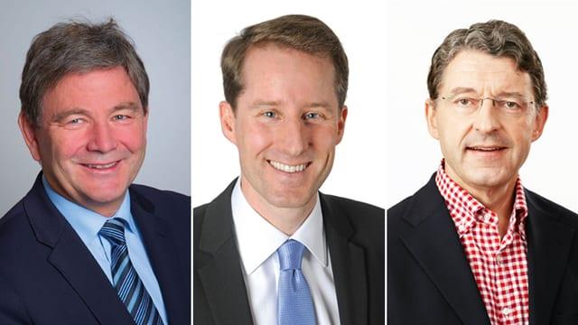 Res Schmid, Thomas Aeschi und Heinz Brand (vlnr)