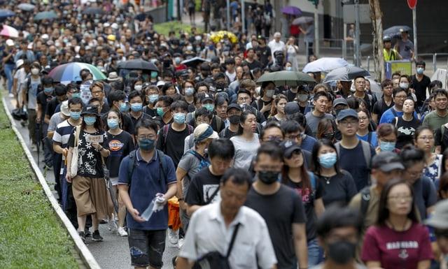 Demonstraziuns a Hongkong.