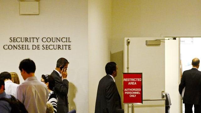 L'entrada tar il gremi dal cussegl da segirezza da l'ONU.