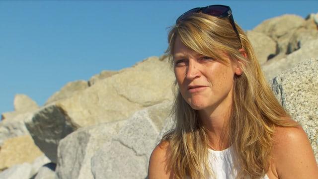 Rachel Yates am Strand