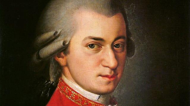 Ein Porträtgemälde von Wolfgang Amadeus Mozart.