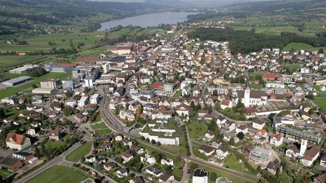 Luftaufnahme der Gemeinde Hochdorf